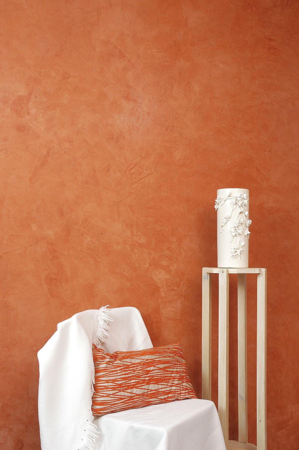 Peinture effet fa on stuc ou tadelakt bricolage avec robert - Peinture effet tadelakt ...