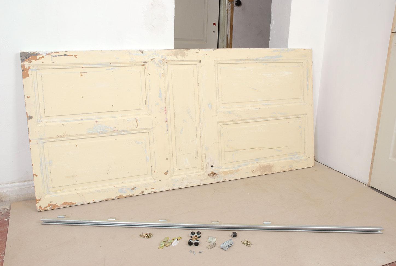 Cr er une porte coulissante bricolage avec robert - Comment faire un placard avec porte coulissante ...