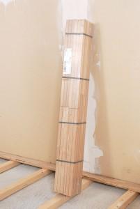 Le parquet est vendu en botte de lames de différentes longueurs.