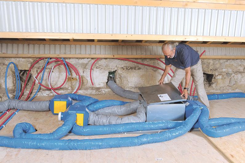 Ventiler sans gaspiller installer une vmc double flux autogyre bricolage - Installation d une vmc double flux ...
