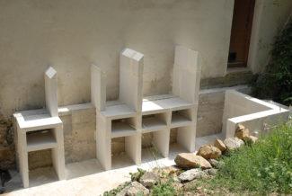 Meuble exterieur en siporex for Beton cellulaire pour exterieur