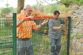 clôture métallique en panneaux-21