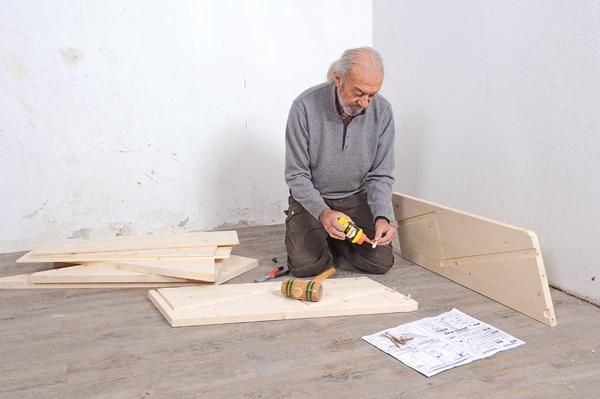 monter un escalier en bois quart tournant en kit. Black Bedroom Furniture Sets. Home Design Ideas