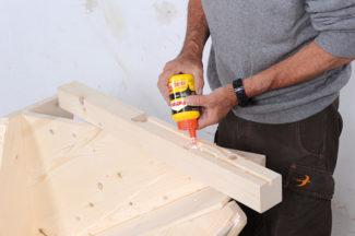 Bricolage avec Robert-escalier en bois-12