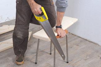 Bricolage avec Robert-escalier en bois-18