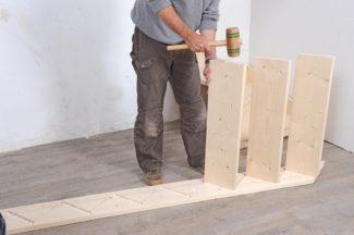 Bricolage avec Robert-escalier en bois-25