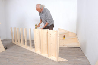 Bricolage avec Robert-escalier en bois-27