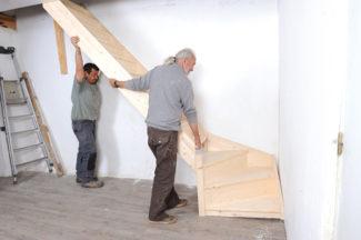 Bricolage avec Robert-escalier en bois-35