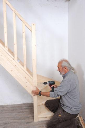 Bricolage avec Robert-escalier en bois-38