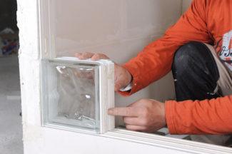 Bricolage avec Robert-mur en brique de verre-13