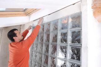 Bricolage avec Robert-mur en brique de verre-36