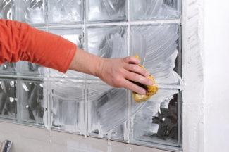 Bricolage avec Robert-mur en brique de verre-43