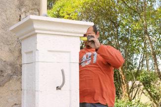 Bricolage avec Robert-pilier en pierre-26