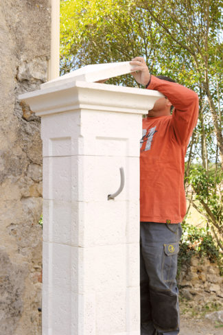 Bricolage avec Robert-pilier en pierre-27