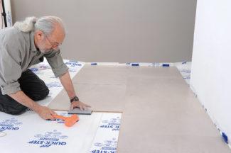 Poser des dalles au sol-bricolage avec robert-32