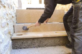 escalier en pierre-74-Bricolage avec Robert