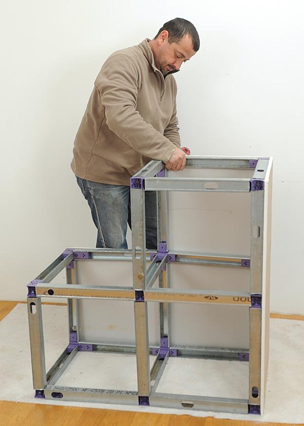 R aliser des niches des meubles et des coffres en plaques de pl tre bricolage avec robert - Plaque de placo dimension ...