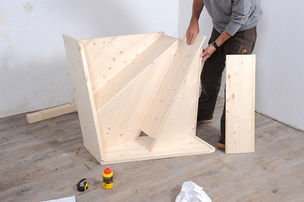 Bricolage avec Robert-escalier en bois-11