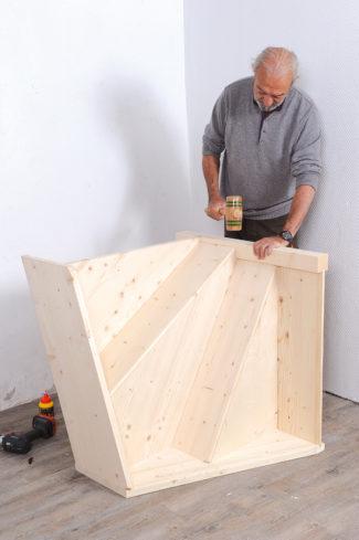 Bricolage avec Robert-escalier en bois-13