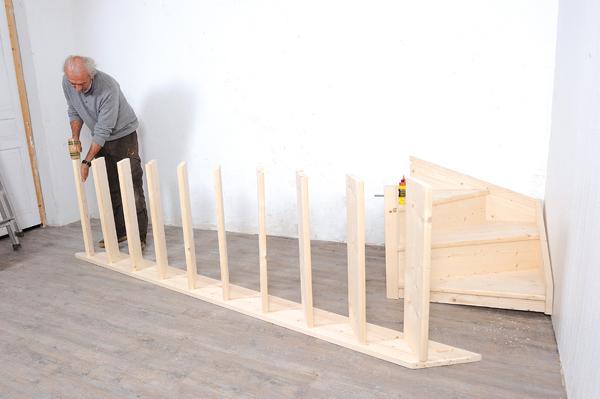 Bricolage avec Robert-escalier en bois-26