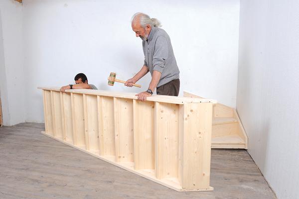 Bricolage avec Robert-escalier en bois-29