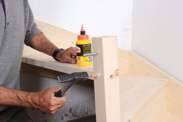 Bricolage avec Robert-escalier en bois-33