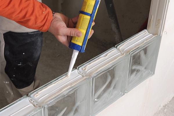 Bricolage avec Robert-mur en brique de verre-22