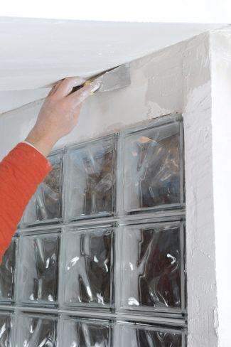Bricolage avec Robert-mur en brique de verre-37