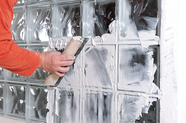 Bricolage avec Robert-mur en brique de verre-42
