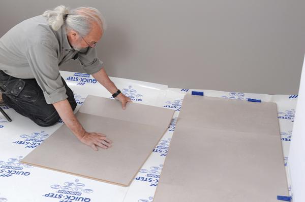 Poser des dalles au sol-bricolage avec robert-27